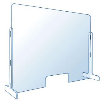 Vitre de protection en plexiglas pour comptoir 85 x 60 cm