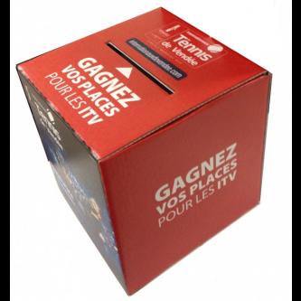 Urne carton personnalisée 15 x 15 x 15 cm