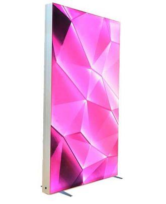 Totem RETROLUM2 200 x 200 cm personnalisé