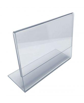 Porte étiquette plexi incliné 60 x 90 mm horizontal
