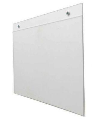 Porte visuel mural plexiglas A3 Horizontal prépercé avec vis