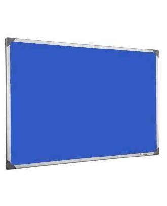 Tableau en feutrine bleu 45 x 60 cm cadre alu
