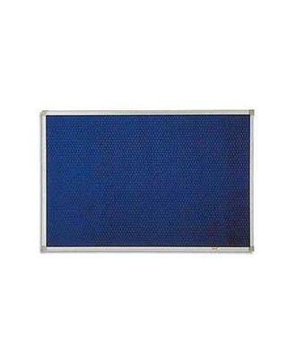 Tableau Post-it 60 x 90 cm cadre alu fond bleu
