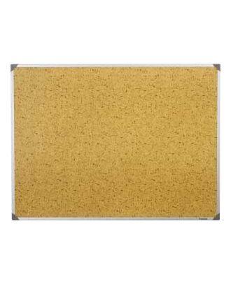 Tableau Post-it 45 x 60 cm cadre alu fond brun