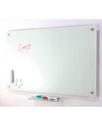 Tableau en verre blanc 90 x 120 cm magnétique