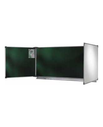 Tableau NF 100 x 400 cm triptyque émaillé extérieur blanc intérieur vert
