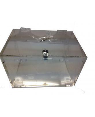 Urne plexiglas démontable URNDEMTB vue du haut
